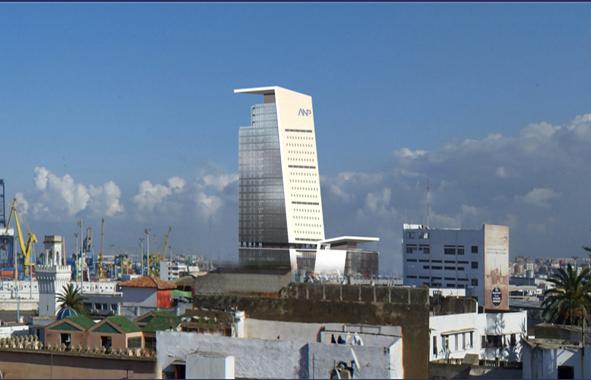 Análisis estructural de la Torre ANP en el puerto de Casablanca. Marruecos.