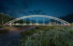 Puente arco sobre el río Genil